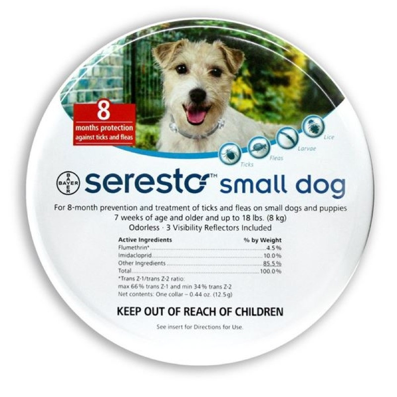 SERESTO COLLAR PERRO HASTA 8KG 1U BAYER