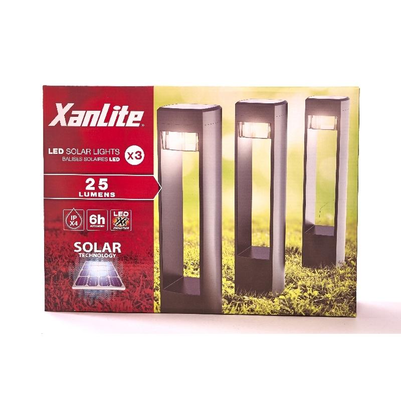 Balizas solares 3 unidades 25 lumenes verdecora - Balizas solares jardin ...