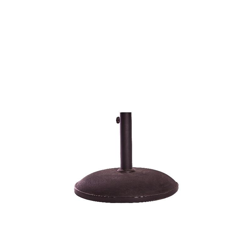 Pie parasol color negro redondo 50 cm diametro verdecora - Caseta perro carrefour ...