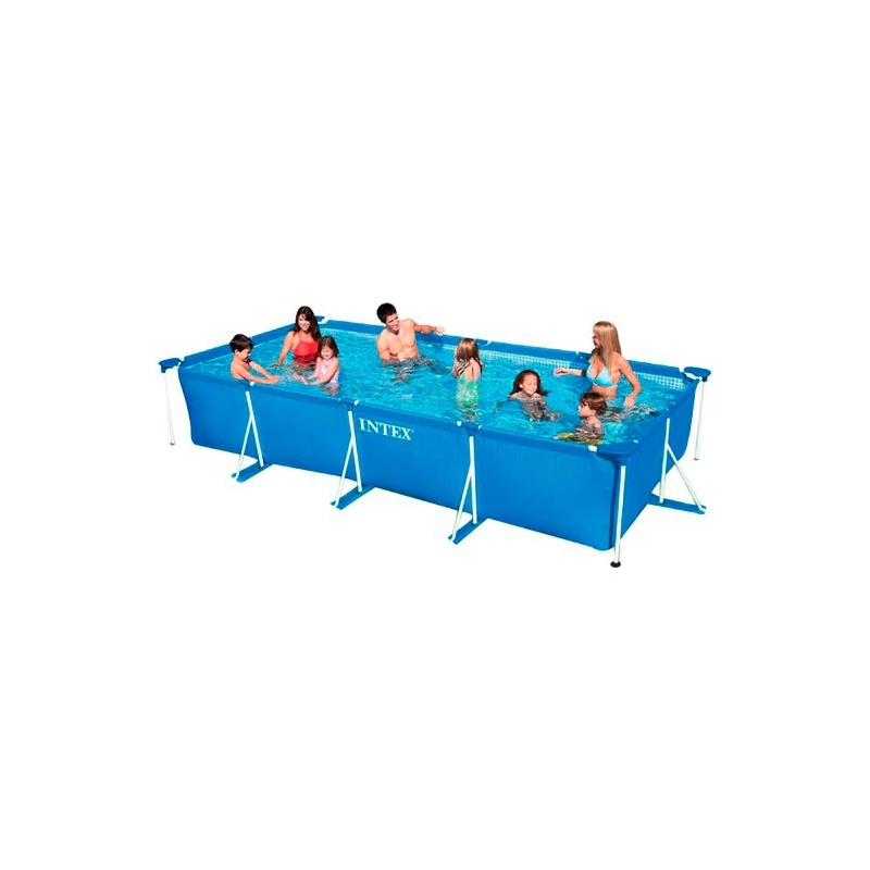 piscina intex tubular rectangular 450x220x84cm verdecora