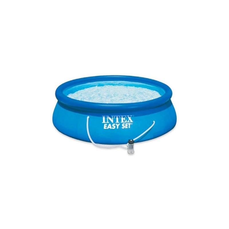Piscina flexible 396x84cm con bomba verdecora for Funda piscina redonda