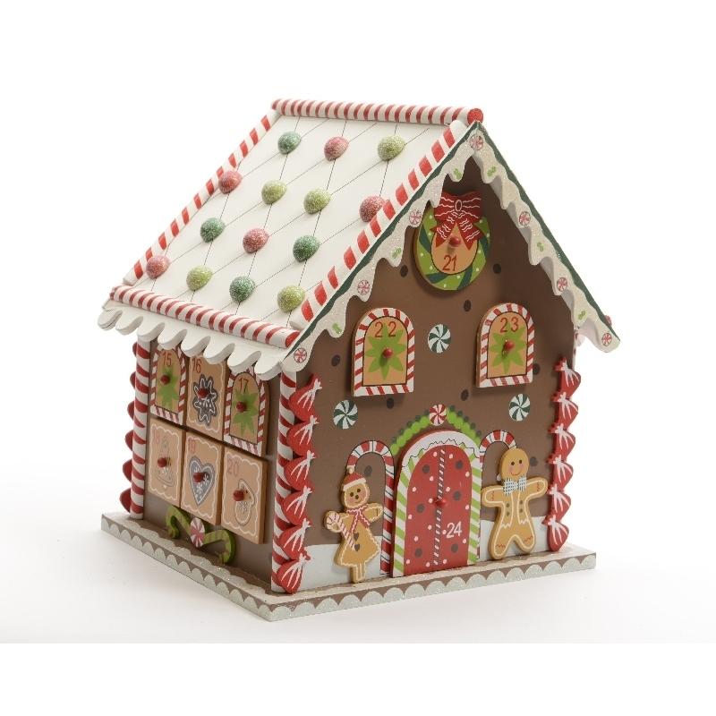 calendario adviento madera casa galleta 23x20x27 verdecora. Black Bedroom Furniture Sets. Home Design Ideas