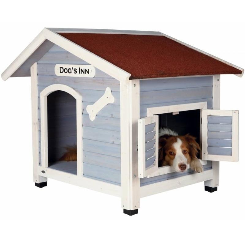 Caseta perro de madera y techo abatible - Caseta perro madera ...