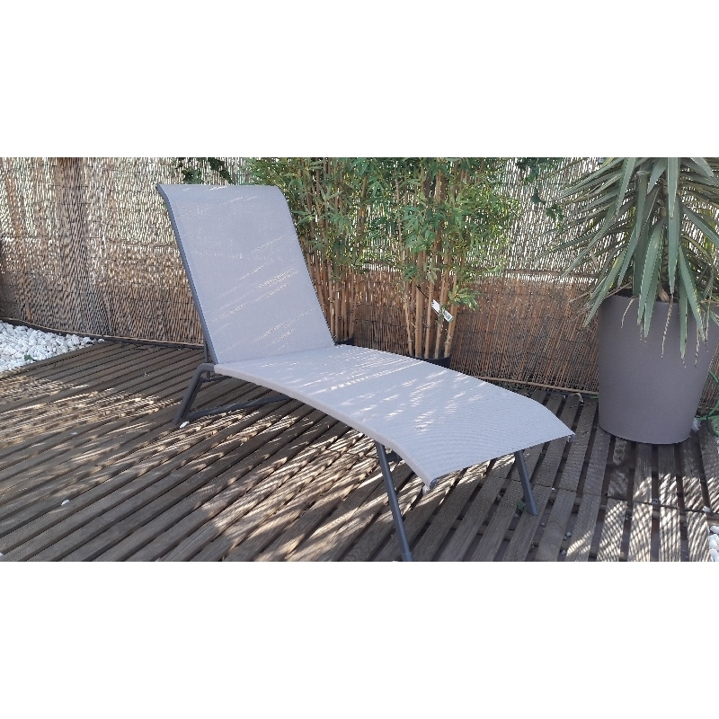 Tumbona plegable con posiciones topo muebles de jardin - Verdecora muebles jardin ...