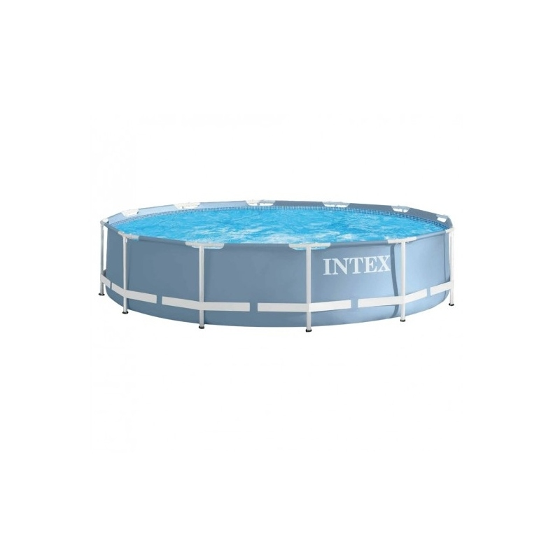 Piscina tubular intex 366x76cm con bomba verdecora for Piscina redonda desmontable