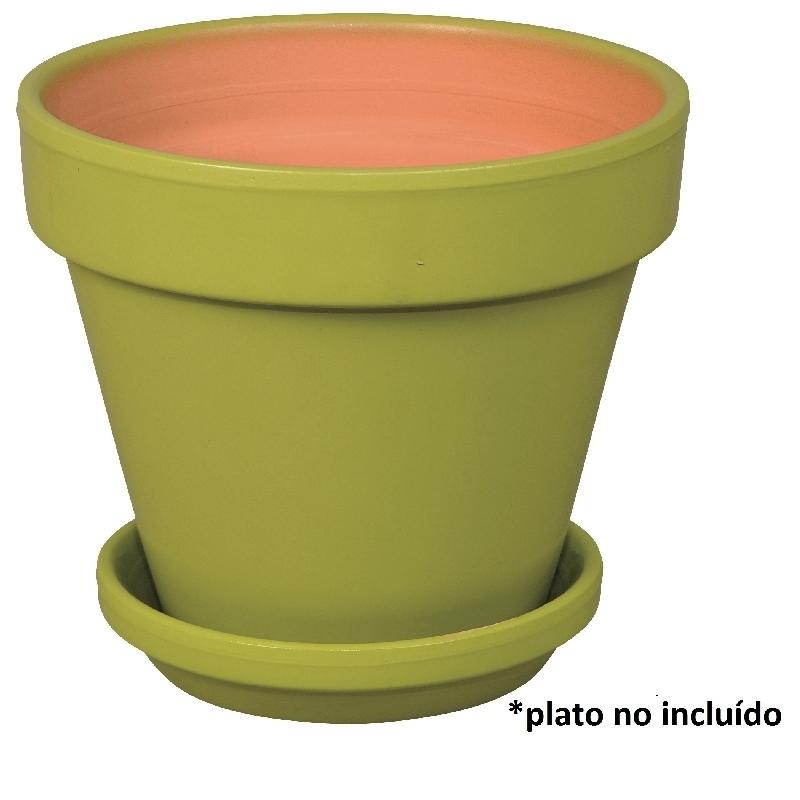 Maceta barro standard verde 17cm verdecora - Verdecora macetas ...