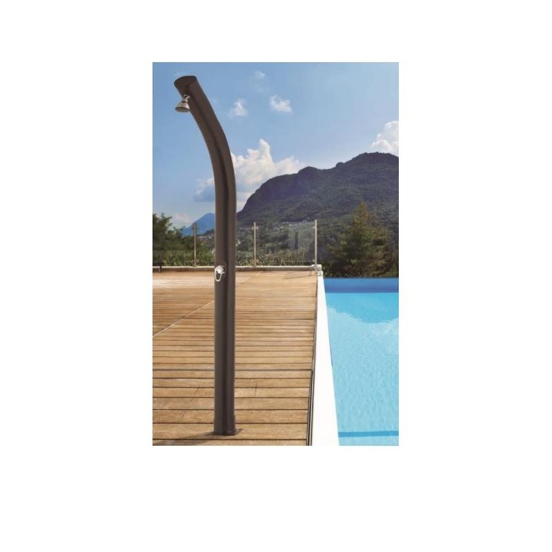 Ducha solar piscina forma curva 23 litros verdecora - Ducha solar piscina ...