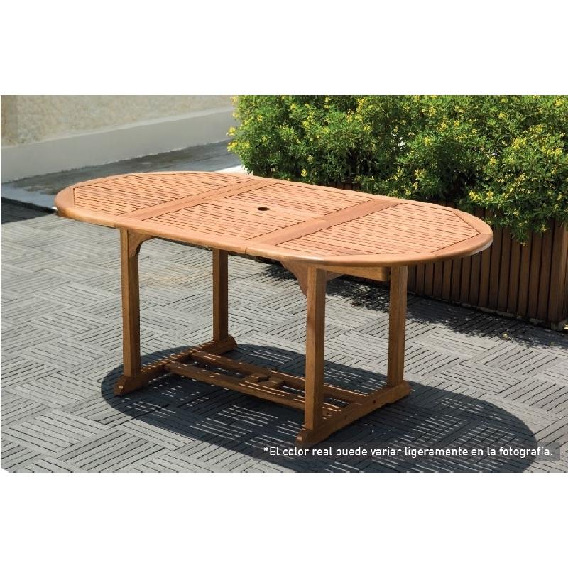 Mesa extensible oval victoria verdecora - Mesas de jardin extensibles ...