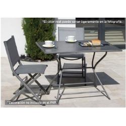Comedor de jardin con mesa rectangular y 2 sillas