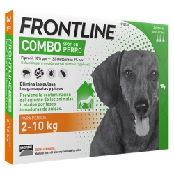 FRONTLINE COMBO 3 PIPETAS PERRO 2-10KG