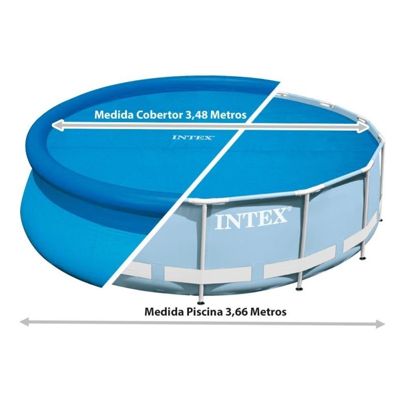 Cobertor solar para piscina 366cm verdecora for Alberca intex redonda