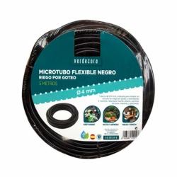 MICROTUBO FLEXIBLE NEGRO 4MMX5M VERDECORA