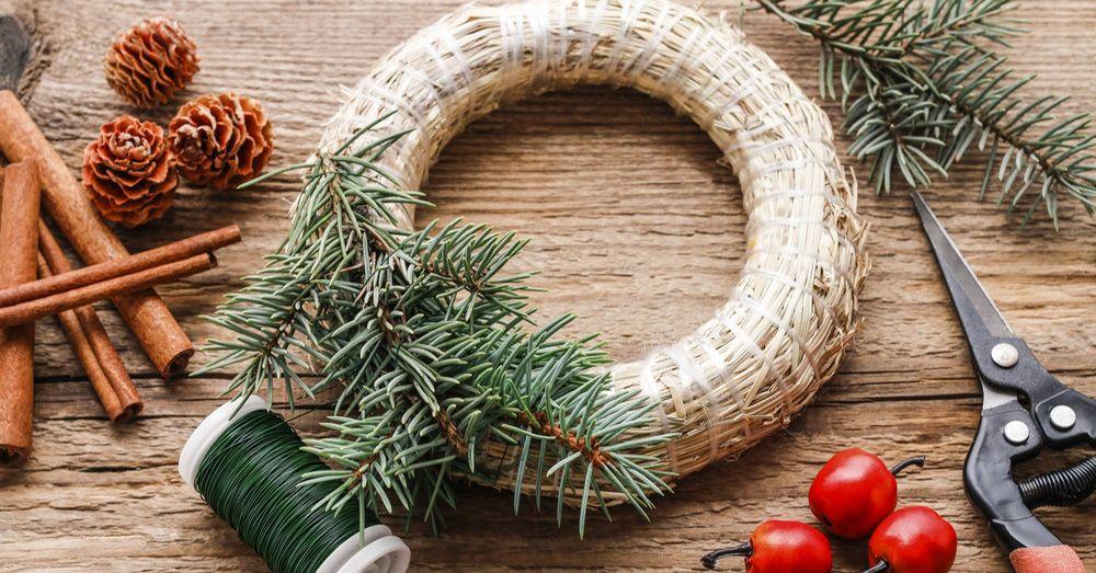 DIY cmo hacer una corona de Navidad Blog Verdecora