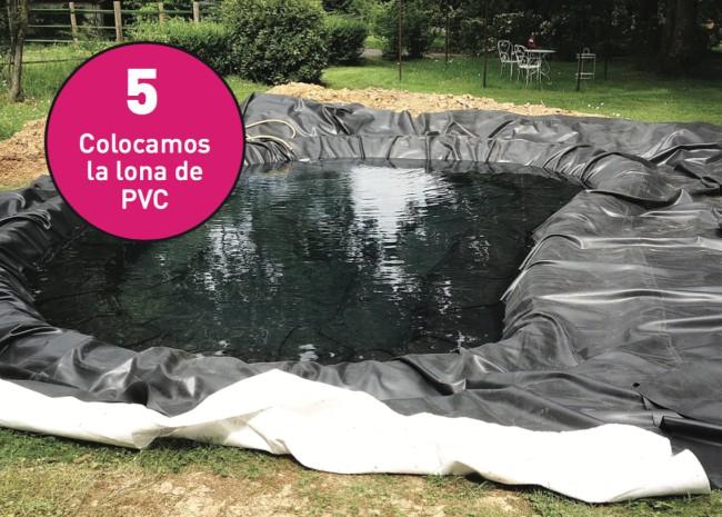 C mo hacer un estanque para el jard n blog verdecora for Lona estanque barata