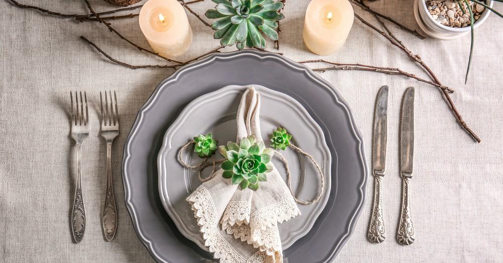 Suculentas, plantas perfectas para una boda