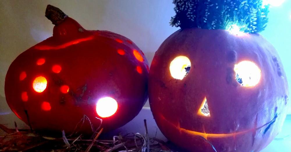 DIY calabaza de Halloween