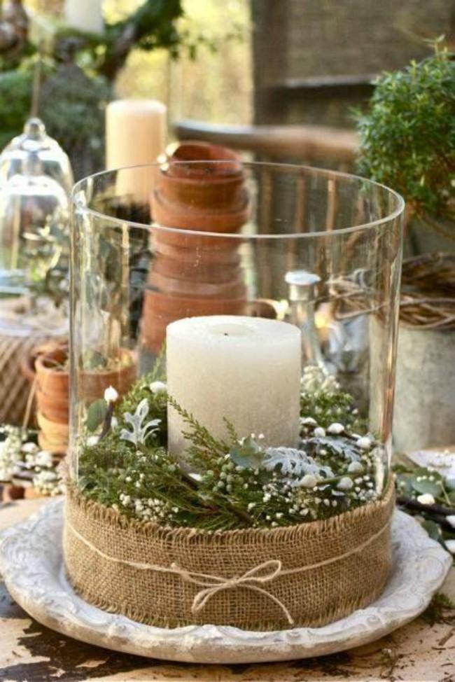 Ideas Para Crear Centros De Mesa Navidenos Blog Verdecora - Centros-de-mesa-navideos-con-velas