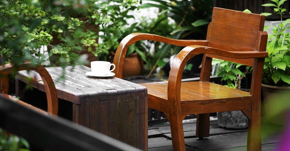 Cuidados de los muebles de jard n de madera blog verdecora - Muebles de jardin en madera ...