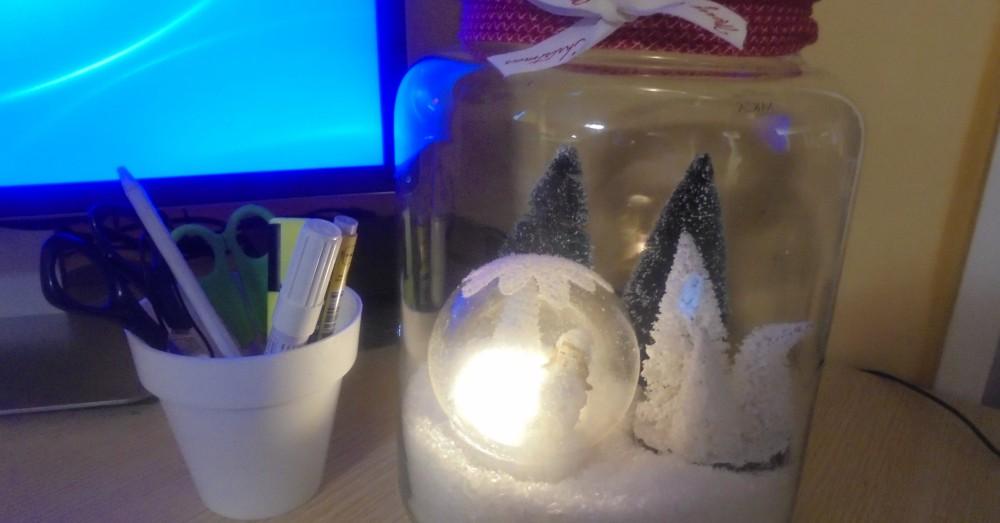 DIY Decoración de Navidad para oficina