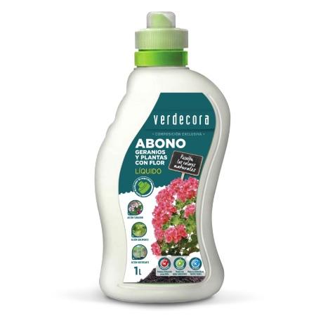 Abono líquido para plantas en flor