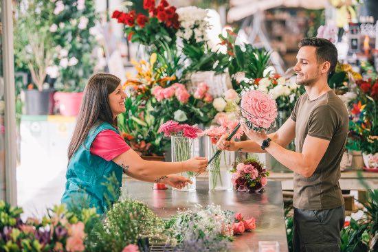 Floristería de las tiendas Verdecora