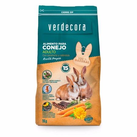 Pienso para conejos adultos marca Verdecora