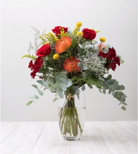 Colección de ramos de flores para jarrones de otoño