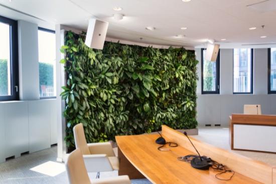 Oficinas con jardines verticales artificiales
