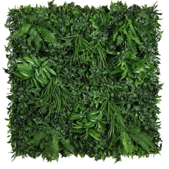 Plancha para jardines verticales artificiales de hojas verdes
