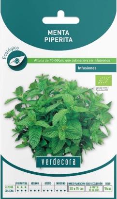 Semillas ecológicas de menta Verdecora