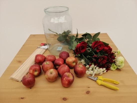 DIY centro de rosas naturales