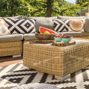 Conjuntos sofá y mesa baja de jardín