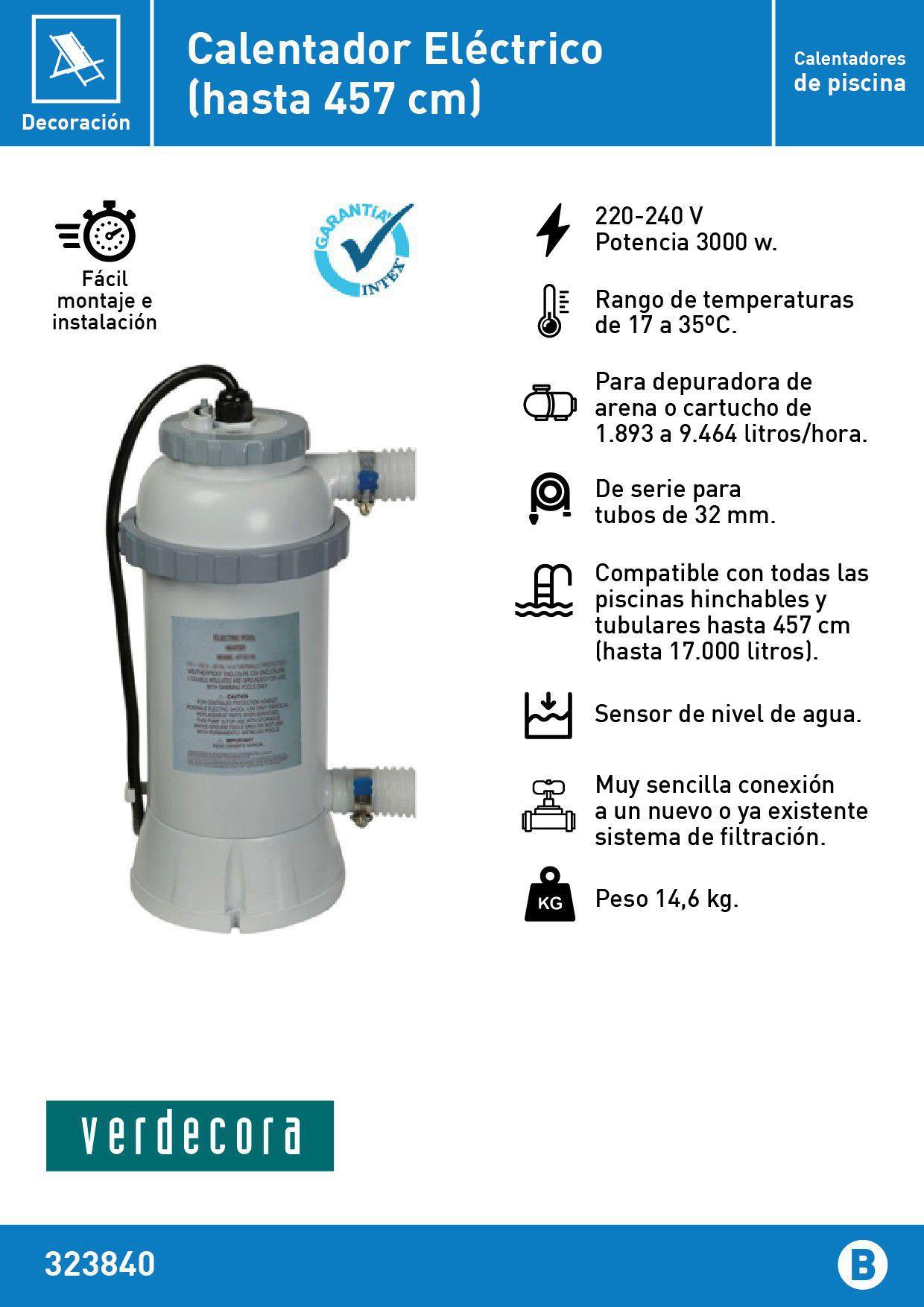 calentador eléctrico para piscinas