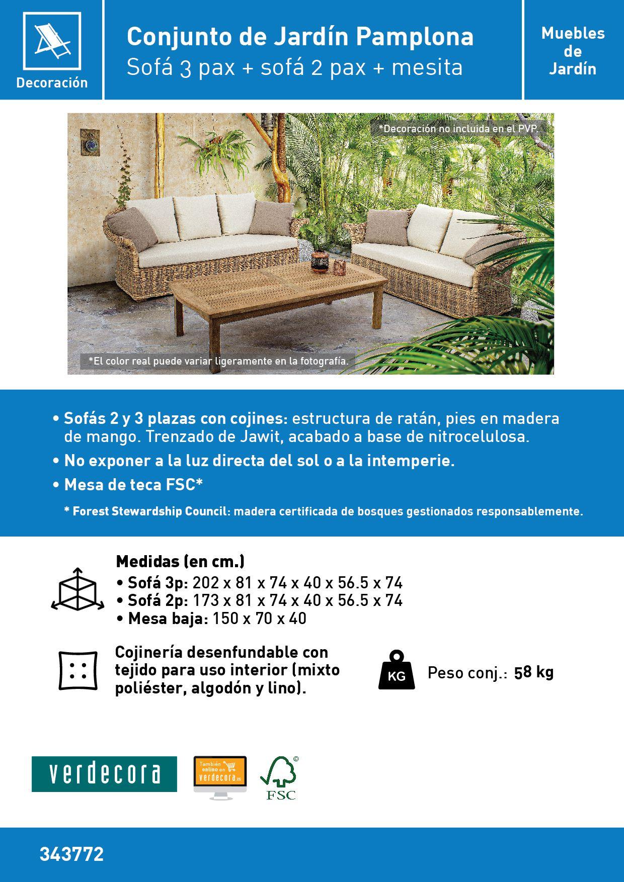 Mueble De Jard N Set Pamplona Verdecora # Muebles Riego De La Vega