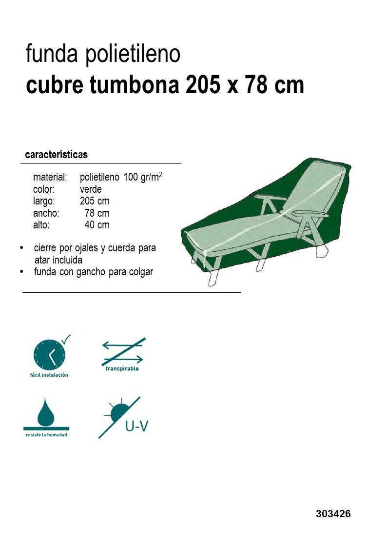 Funda cubre tumbona muebles de jard n verdecora for Fundas protectoras para muebles de jardin