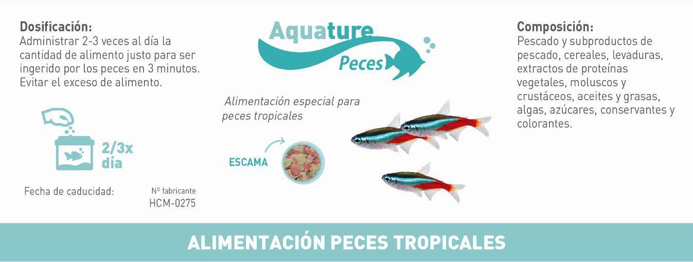 Alimento completo para peces de agua tropicales verdecora for Alimento para peces
